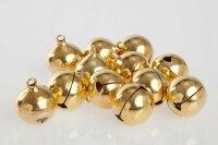 50 Kupfer Glöckchen 23x19 mm - Gold Farbend
