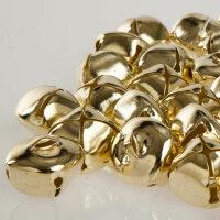50 Schellen aus Eisen - 24 mm - Gold Farbend