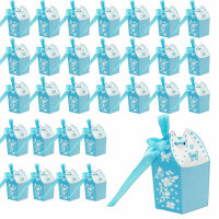 30 blaue Gastgeschenkboxen zur Taufe & Geburt &...