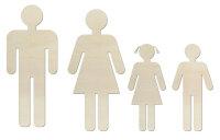 Toilettenschilder Mann, Frau, Mädchen und Junge aus...