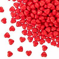 100 rote Herzen - 12 mm - Tischdekoration für...