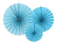 Deko Rosetten 3 Stück blau
