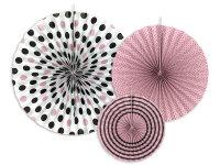Deko Rosetten 3 Stück - Bunt/rosa