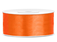 25m Satinband Satin Geschenkband orange 25mm breit