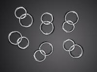 25 Hochzeitsringe - Silber