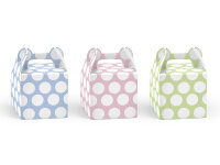 6 Dekorative Boxen - Pastell Love - 8.7 x 8.7 x 12.5 cm