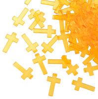 100 orangene Acryl Kreuze