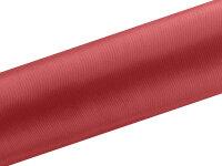 9m Tischläufer- Satin - 16 cm breit - rot