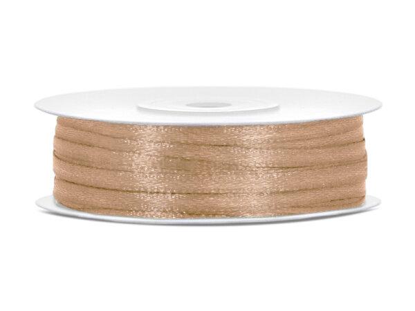 10x Satinband - 50 m - 3 mm - Helles Gold