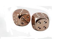 2x Würfel - Chessex 29011 - Copper Plated