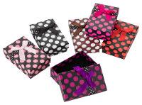 24x Geschenkboxen gepunktet 5x8x2,6 cm