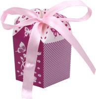 30 lila Gastgeschenkboxen zur Taufe & Geburt &...