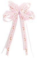 12er Set Schleifen - rosa-weiß - Baby Girl