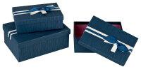 3 blaue Geschenkboxen mit blauem Deckel -...