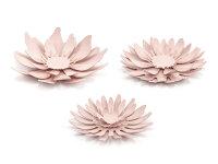 Paper decorations Flowers, powder pink (1 pkt / 3 pc.)