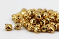 200 Aluminium Glöckchen 9x7x6 mm- Gold und Silber je...