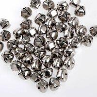 100 Schellen aus Eisen - 15 mm - Silber und gold