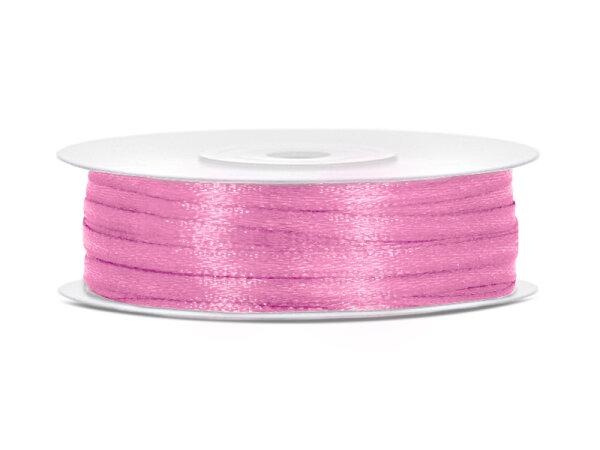 10x Satinband - 50 m - 3 mm - Rosa 81
