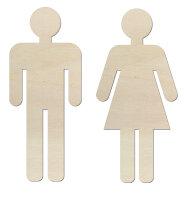 Toilettenschilder Mann und Frau aus Holz zum selber...