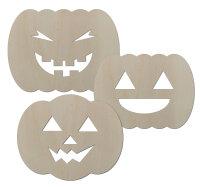 Halloween Kürbis 3er SET - ca. 21x15,5 cm -...