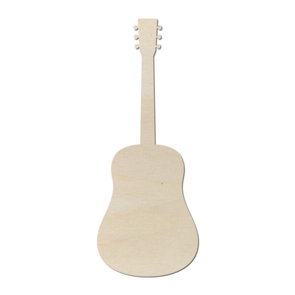 Gitarre Typ1 aus Holz als Wanddeko zum selber bemalen - 60 cm