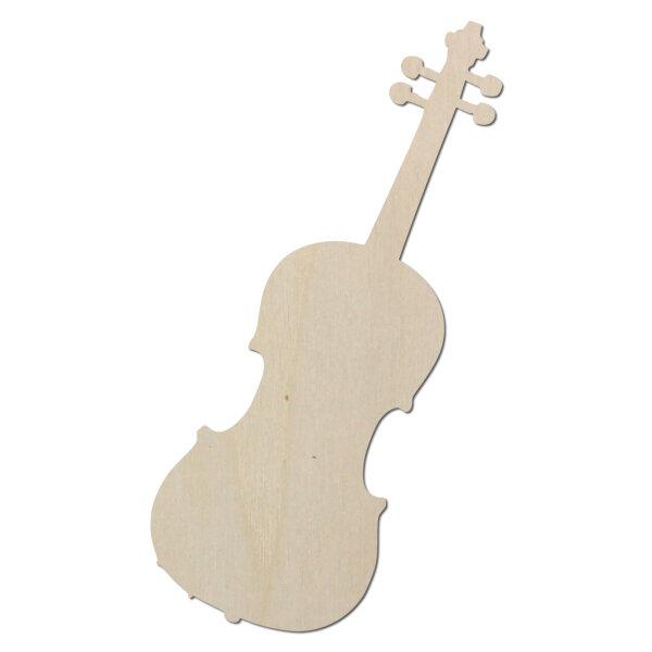 Violine Geige Typ1 aus Holz als Wanddeko zum selber bemalen - 60 cm