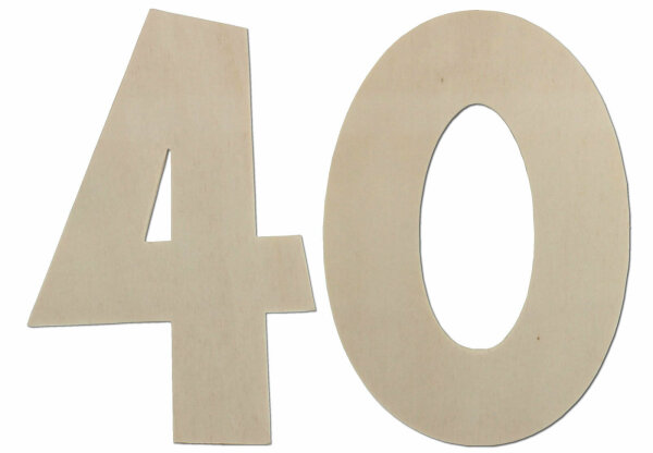 Deko Zahlen - Geburtstagsdeko 40 Geburtstag aus Holz - Geschenkideen & Tischdeko