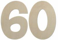 Deko Zahlen - Geburtstagsdeko 60 Geburtstag aus Holz -...