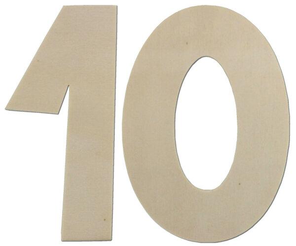 Deko Zahlen - Geburtstagsdeko 10. Geburtstag aus Holz - Geschenkideen Tischdeko