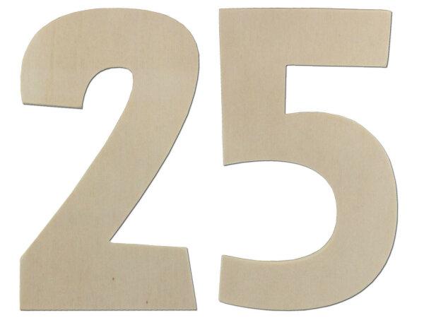 Deko Zahlen - Geburtstagsdeko 25. Geburtstag aus Holz - Geschenkideen  Tischdeko
