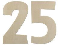 Deko Zahlen - Geburtstagsdeko 25. Geburtstag aus Holz -...
