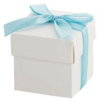 30x Geschenkbox klein mit Schleife - himmelblaue Schleife...