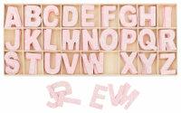 Buchstabenkasten Rosa - 5,4 cm hoch - 104 Teile (je 4...