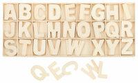 Buchstabenkasten Natur - 5,4 cm hoch - 104 Teile (je 4...