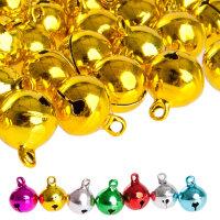100 laute Glöckchen Schellen Jingle Bells - 17x13 mm...