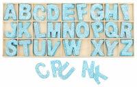 Buchstabenkasten Blau - 5,4 cm hoch - je 4 Buchstaben