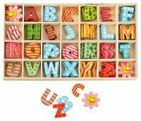 Buchstabenkasten Bunt - 2,5 cm hoch - je 4 Buchstaben mit...