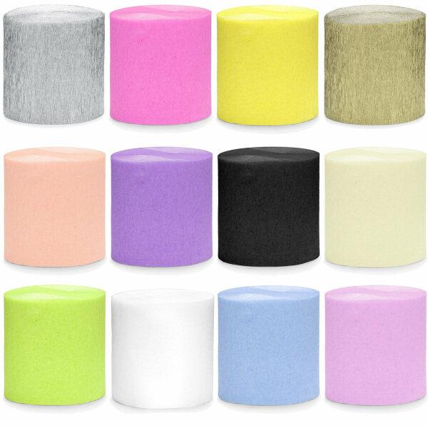 0,04 €/m | Rollen KREPP Papier  für Rosen - 5 cm x 10 M Gesamt 40 m Viele Farben