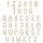 Buchstaben aus Holz - Größe wählbar - bis 60 cm Höhe Typ2 Buchstabe Zeichen