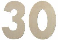 Deko Zahlen - Geburtstagsdeko 30 Geburtstag aus Holz -...