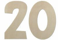 Deko Zahlen - Geburtstagsdeko 20 Geburtstag aus Holz -...