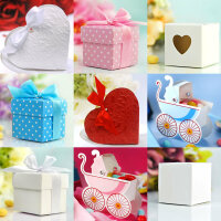 50 Stück - Geschenkboxen für Gastgeschenke auf...